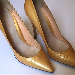 Sergio Rossi metallic moustard High Heels Size 40